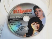 Greys Anatomy Third Season 3 Disc 2 Replacement DVD Disc Only 62-7