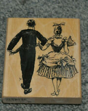 """Stamp Cabana """"Happy Couple"""" Formal Wear Dance Rubber Stamp"""