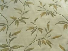 Harlequin Curtain Fabric KIRA 0.65m Green/Lime/Cream Weave Leaf Design 65cm