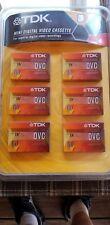 TDK DVC 60 MINUTE -DIGITAL VIDEO CASSETTE - SEALED 6 PACK