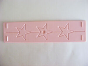 1 Double Sided Embossing Board Stars And Zig Zags