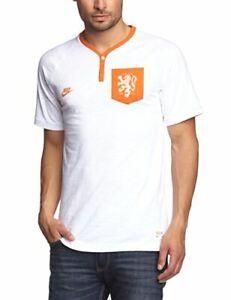 Nike Men's T-Shirt, Dutch Covert Netherlands, football Sports Leisure, White, S
