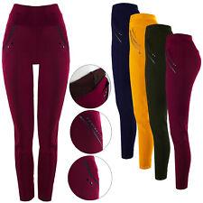 Thermo pantalones fell leggings lana-VISCOSE treggings invierno pantalones señora