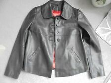 BODEN GORGEOUS CHOCOLATE BROWN SOFT LEATHER JACKET SIZE 8