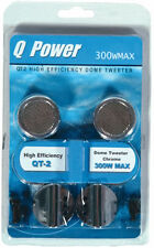 "Qpower QT2 Tweeter 1"" Dome 300W Chrome Blister Packed"
