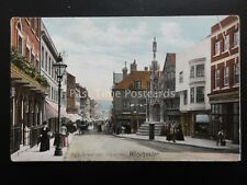 Hampshire WINCHESTER High Street & City Cross c1905 Postcard by The Wrench 13959
