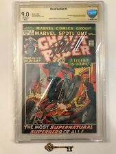 MARVEL SPOTLIGHT #5 CBCS 9.0 (like CGC) Signed by Stan Lee 1st Ghost Rider! Key!
