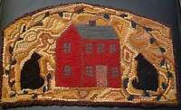 CATS ABOUT THE HOUSE  Complete Primitive Rug Hooking Kit with cut wool strips