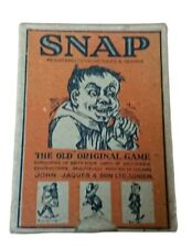 More details for john jaques snap the old original card game 64 cards of grotesque characters