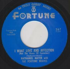 "NATHANIEL MAYER I Want Love & Affection FORTUNE Re. 7"" 1966 Raw Detroit R&B HEAR"