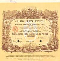 Chargeurs Reunis SA, Co. de Navigation a Vapeur, obligacion, Paris, 1939