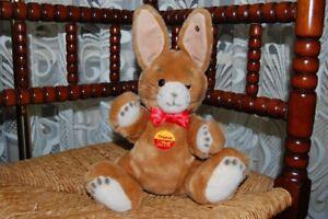 Steiff Original Niki Rabbit Brown 087240 2002 Button Chest Shield 30cm Jointed