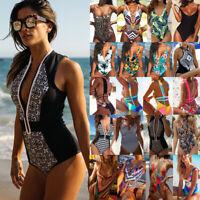 Women Bikini One-Piece Monokini Floral Push Up Swimsuit Beachwear Swimwear Hot A