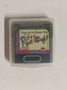 Ren & Stimpy Quest For The Shaven Yak Sega Game Gear w/ Case