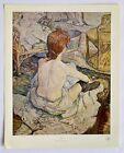 Vintage Lithograph Art Print La Toilette Henri De Toulouse Lautrec Musee Paris