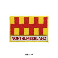 NORTHUMBERLAND County Flag With Name Embroidered Patch Iron on Sew On Badge