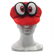 Super Mario Odyssey Cappy Plush Hat Cap Soft Cosplay Red Kids Halloween Xmas