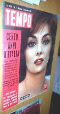TEMPO #  1- 7 GENNAIO  1961 -  GINA LOLLOBRIGIDA- GINO BARTALI