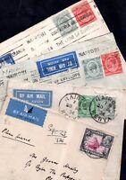 Kenya-U-T KGV 1934-36 Airmail Covers to UK x 4 WS10011