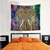 New Hippie Elephant Bohemian Mandala Tapestry Wall Hanging Printed Home Decor---