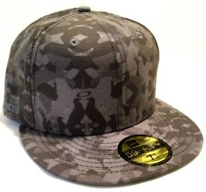 NEW RARE OAKLEY FITTED PIGEON CAMO HAT 7 1/2 Jeff Staple Collaboration 59 Fifty