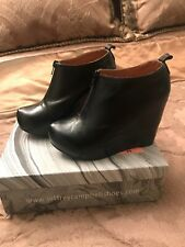 Jeffrey Campbell Leather Havana Handmade Shoes Size 4 With Box.