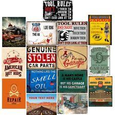 Retro Metal Lata signos 66 Pin-up de Garaje Taller de Reparación de placa Vintage Arte Pared Decoración