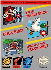 Super Mario Bros. Duck Hunt World Class Track Meet NINTENDO NES Video Game
