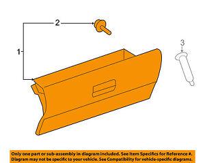Scion TOYOTA OEM 08-15 xB-Dash Glove Compartment Box Door 5555012500B0