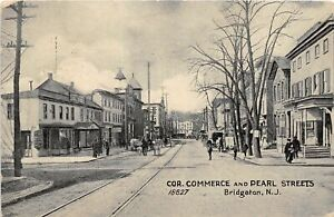 H78/ Bridgeton New Jersey Postcard c1910 Commerce and Pearl Sts Stores 132