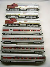 American Flyer Santa Fe Diesel Passenger Set w/ 4 Cars + Obs and Ows [Lot 2-S64]