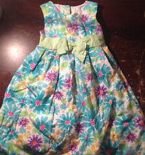 Girls Spring Summer Blue Flower Dress Size 6