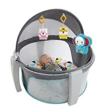 Lonabr 4 in 1 Portable Baby Cradle Crib Folding Sleeper Canopy Infant Toddler