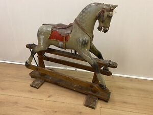 Antique Wooden Rocking Horse Possibly Collinson or Ayres - For Restoration