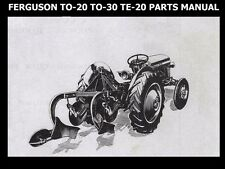 FERGUSON TE20 TO20 TO30 PARTS MANUAL  110pgs for TO-20 Tractor Service & Repair