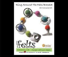 Charm Bracelet Jewelry Gift Craft Kit Handbehg Ring Around the Felts Felted Ball