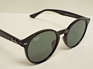 Authentic Ray-Ban RB2180 601/71 Black Green Classic Round Sunglasses $185