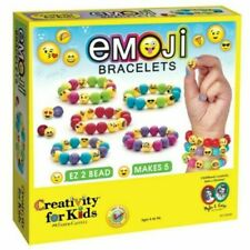 Emoji Bracelets Craft DIY Kit Colorful BEAD MAKER Friendship Creativity for Kids