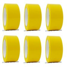 "2"" x 110 yd Yellow 6 Rolls Packaging Packing Tape Carton Sealing - Free Shipping"