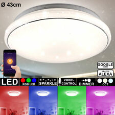 Smart Home RGB LED Decken Lampe Google Alexa Sternen Effekt Leuchte weiß DIMMER