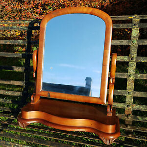 Victorian Mahogany Arched Top Serpentine Dressing Table / Toilet Mirror C19th