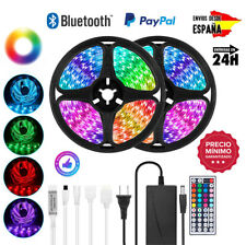 Luces Tiras LED Bluetooth RGB 5050 Multicolor 5M 10M 15M 12V Envío de ESPAÑA