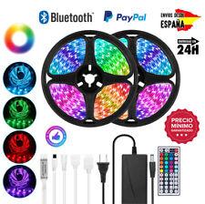 Luces Tiras LED Bluetooth RGB 5050 Multicolor 5M 10M 15M 12V Envío de ESPAÑA