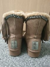 REPLAY  / Faux Fur lined short ankle Ugg  boot.UK SIZE 7.EU 40