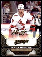 2020-21 UD MVP Gold Script #33 Dougie Hamilton - Carolina Hurricanes