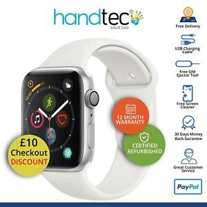 Apple Watch Series 4 44mm GPS Cellular iOS Smartwatch, Silver - Grade B Good