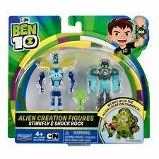 BEN 10 Alien Creation Figures 2 Pack STINKFLY & SHOCK ROCK Playmates Brand New
