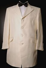 IVORY PIN-STRIPE DETAIL PRINCE EDWARD JACKET WEDDING MORNING FORMAL COAT 38 XL