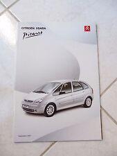 Citroen Xsara Picasso 2001 48p ventas folleto prospekt catálogo