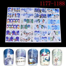 Christmas Water Transfer Nail Art Decoration Stickers Decals Xmas WL A1177-1188